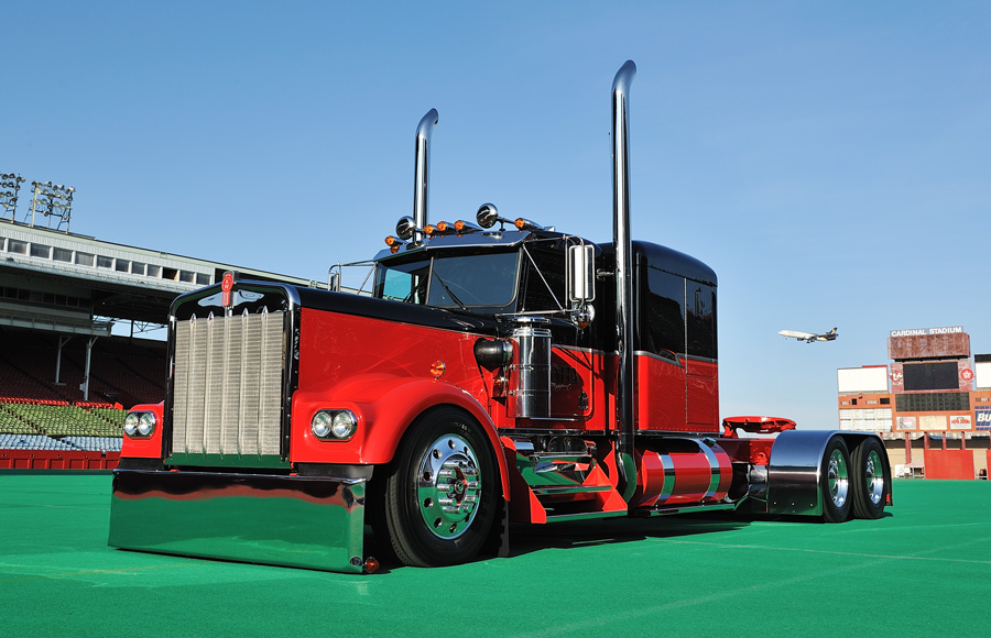 Tricked Out Semi Trucks http://www.tenfourmagazine.com/2011/05/cover-features/scott-dillers-red-dawn/