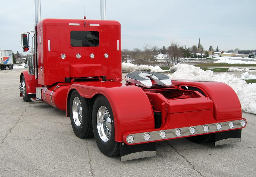 Custom Semi Truck Fenders : Custom built for magazine